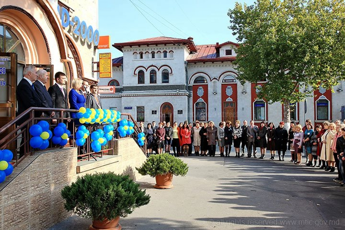 Ceremony that launched the Fast Courier Service of Moldovan Post