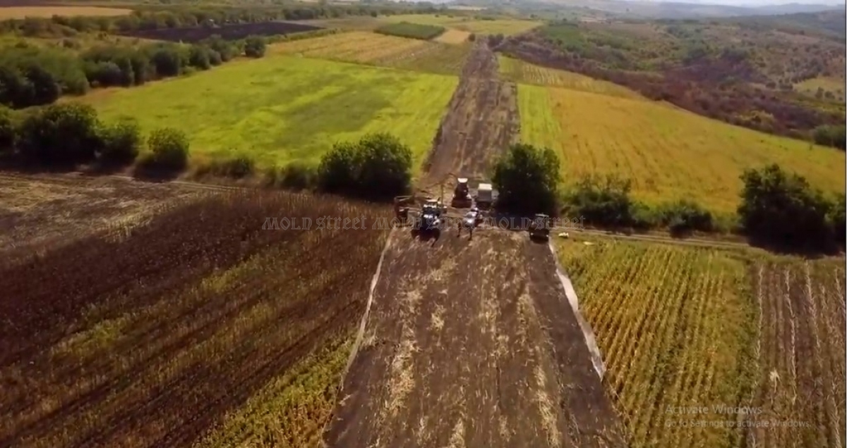 A drone surveyed the fields for the pipeline infrastructure